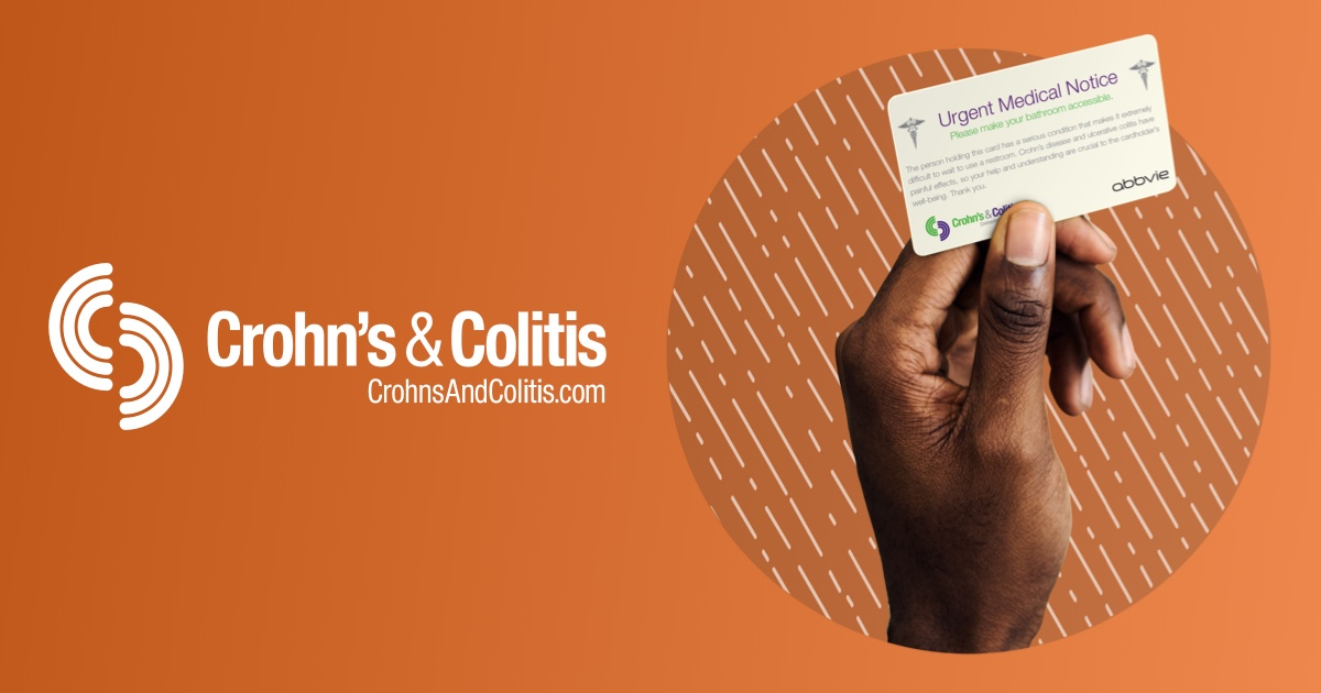 Restroom Request Card For Crohn S Disease Ulcerative Colitis